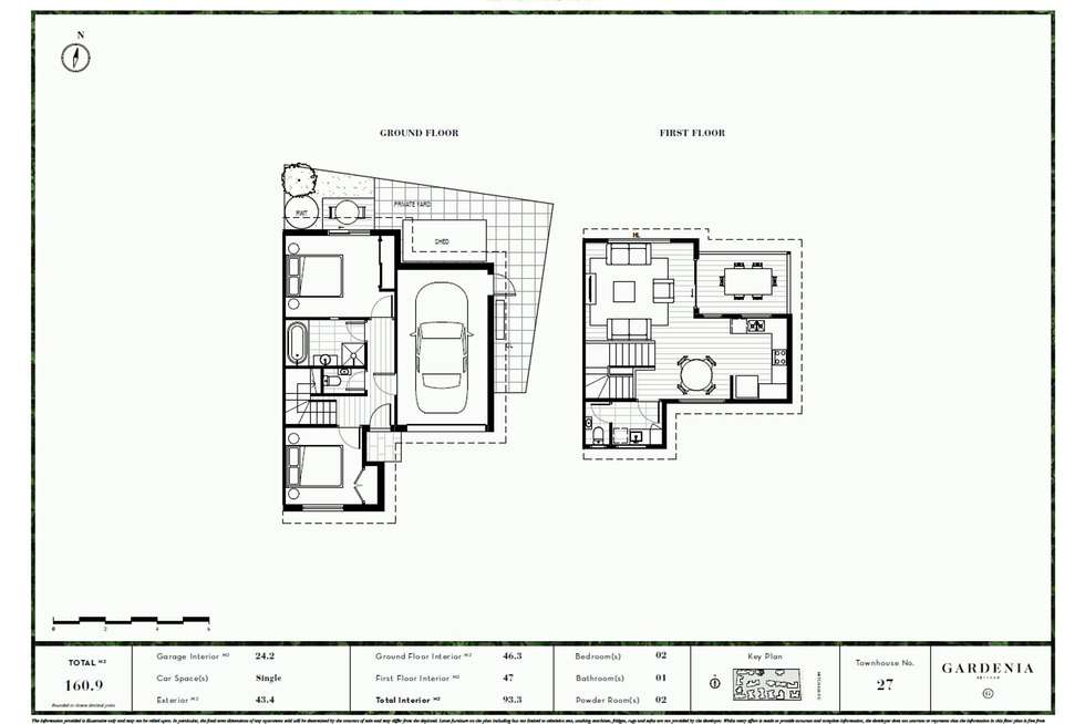 Floorplan of Homely townhouse listing, 27/520-528 Mitcham Road, Mitcham VIC 3132