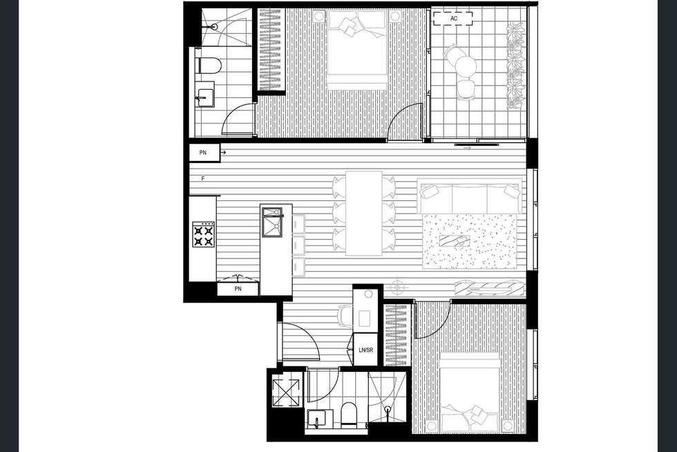 Floorplan of Homely apartment listing, 901/386 Spencer Street, West Melbourne VIC 3003