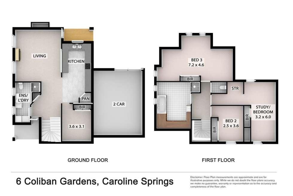 Floorplan of Homely house listing, 6 Coliban Gardens, Caroline Springs VIC 3023