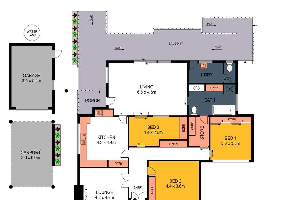 Floorplan of Homely house listing, 26 Dowding Street, California Gully VIC 3556
