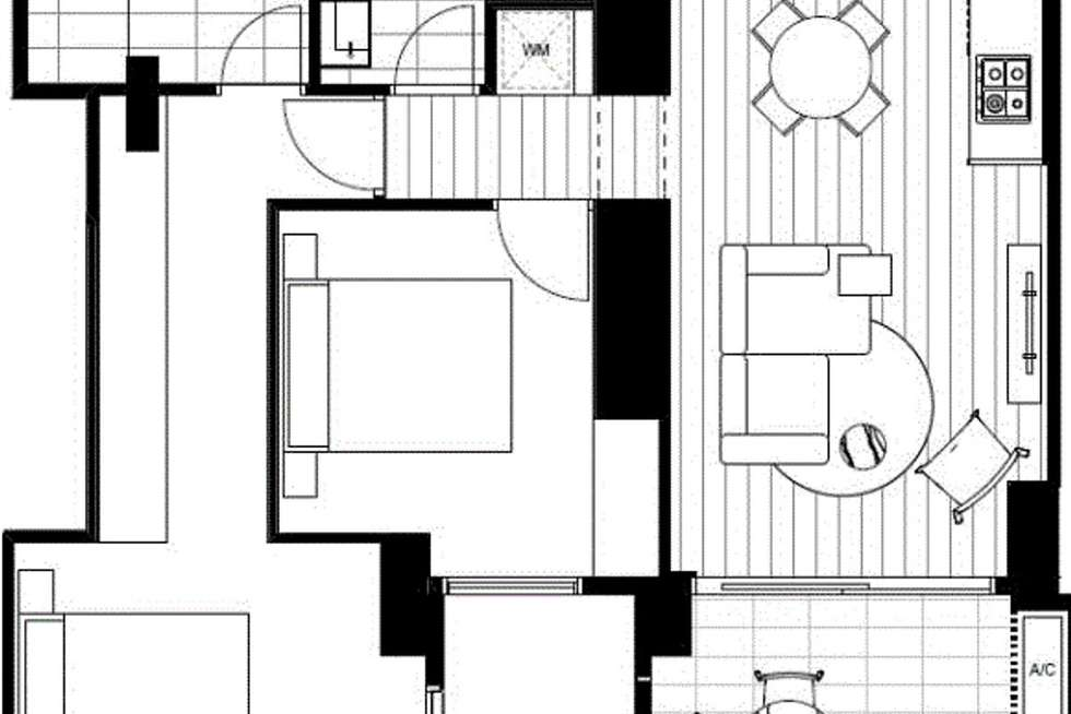 Floorplan of Homely apartment listing, Level08/8 Pearl River Road, Docklands VIC 3008