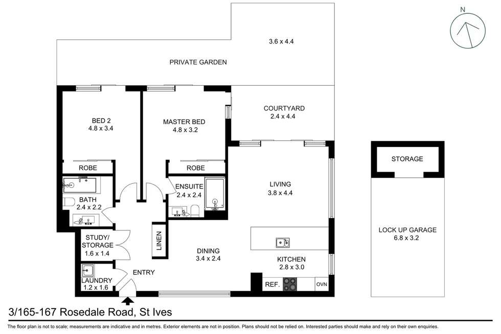Floorplan of Homely apartment listing, 3/165-167 Rosedale Road, St Ives NSW 2075