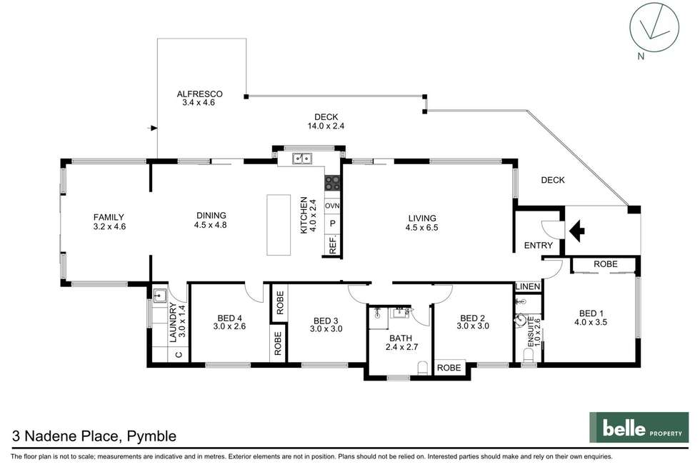 Floorplan of Homely house listing, 3 Nadene Place, Pymble NSW 2073