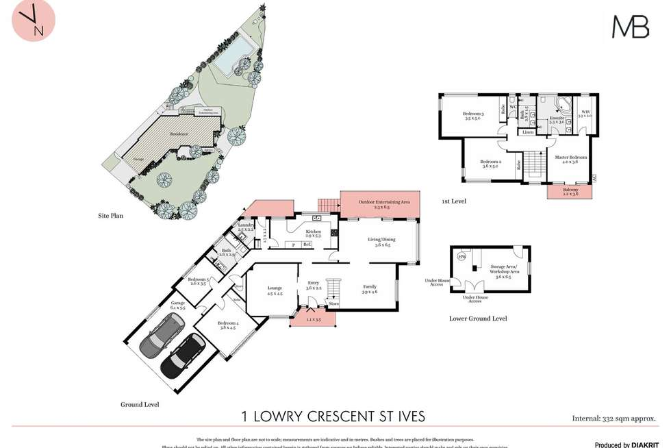 Floorplan of Homely house listing, 1 Lowry Crescent, St Ives NSW 2075