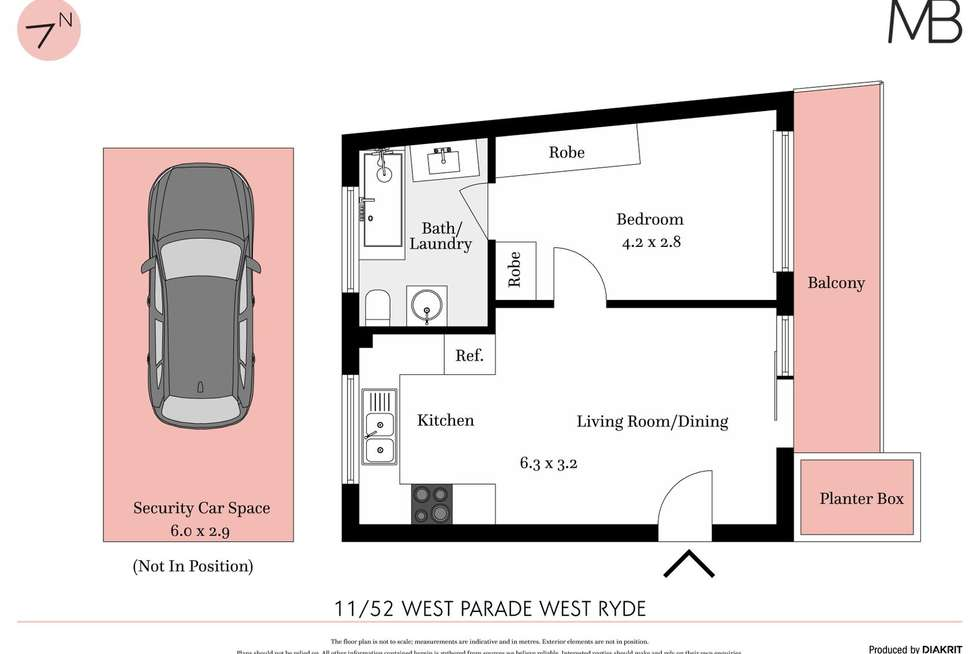 Floorplan of Homely unit listing, 11/52 West Parade, West Ryde NSW 2114