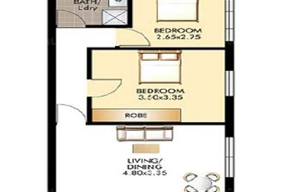 Floorplan of Homely apartment listing, 2/2 Young Street, Vaucluse NSW 2030