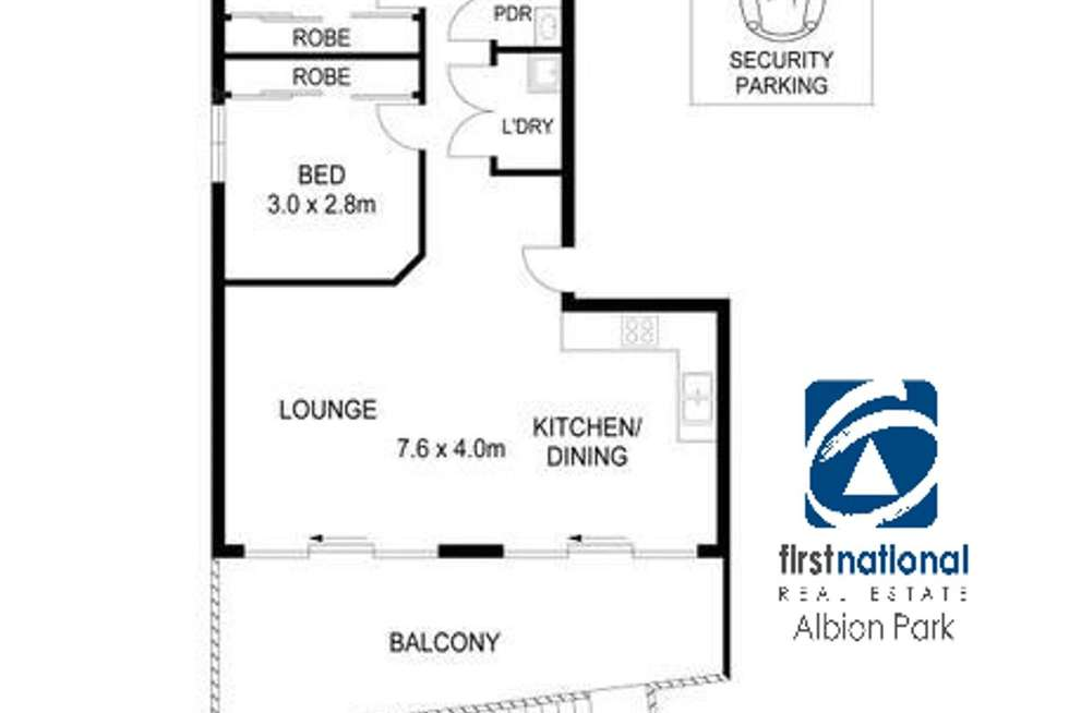 Floorplan of Homely unit listing, 2/125 Lake Entrance Road, Barrack Heights NSW 2528