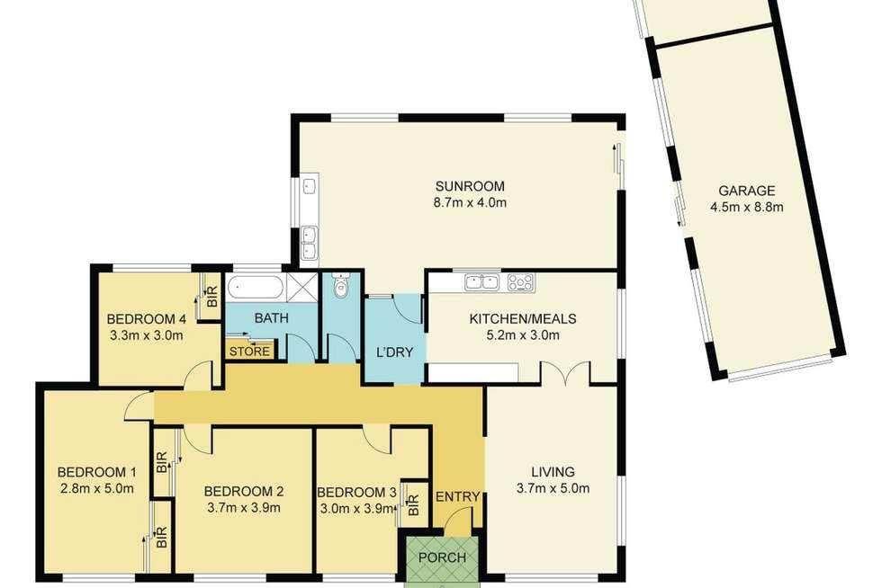 Floorplan of Homely house listing, 36 Killeen Street, Sunshine West VIC 3020