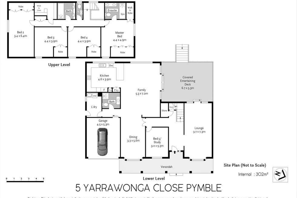 Floorplan of Homely house listing, 5 Yarrawonga Close, Pymble NSW 2073