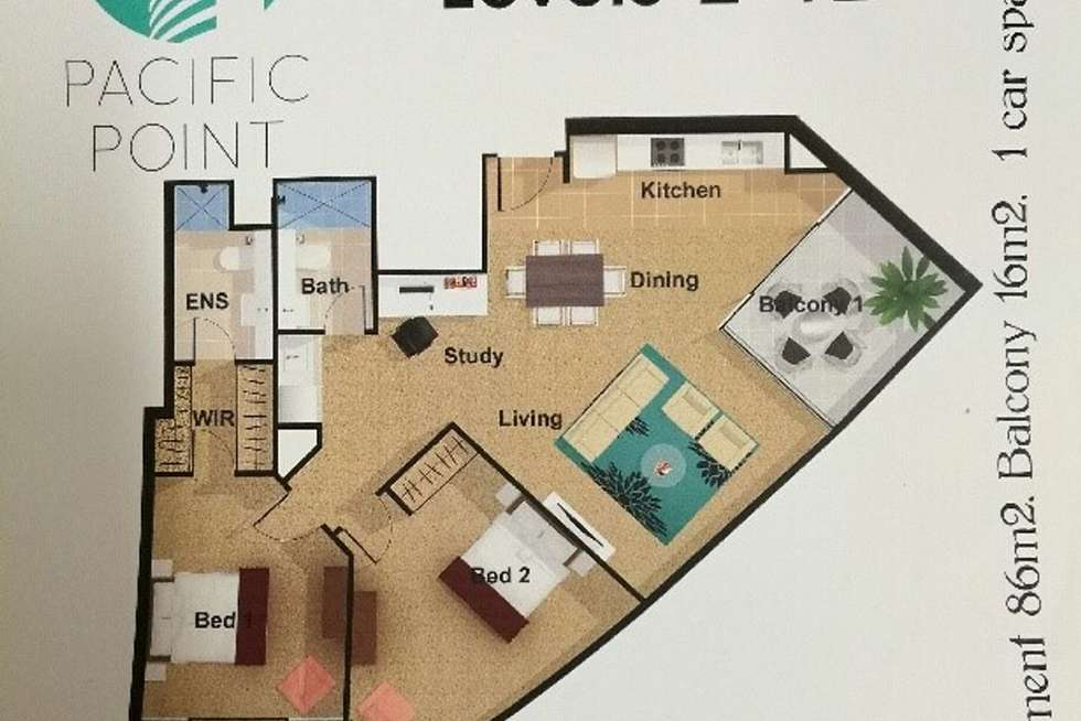 Floorplan of Homely apartment listing, 502/135-137 Pacific Highway, Hornsby NSW 2077