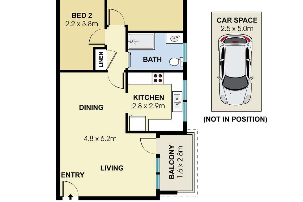 Floorplan of Homely apartment listing, 4/44 Morton Street, Wollstonecraft NSW 2065