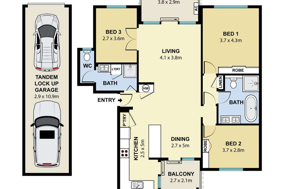 Floorplan of Homely apartment listing, 157/25 Best Street, Lane Cove NSW 2066