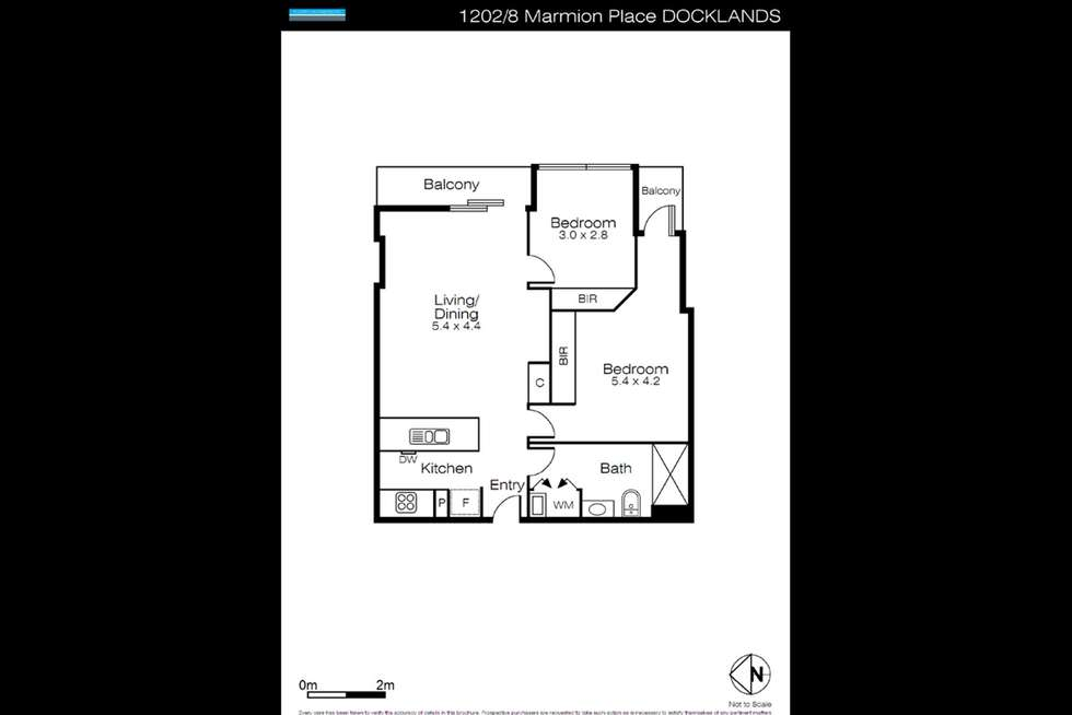 Floorplan of Homely apartment listing, 1602/8 Marmion Place, Docklands VIC 3008