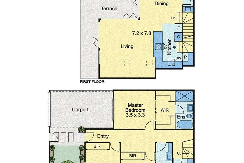 Floorplan of Homely townhouse listing, 7 Lord Street, Richmond VIC 3121