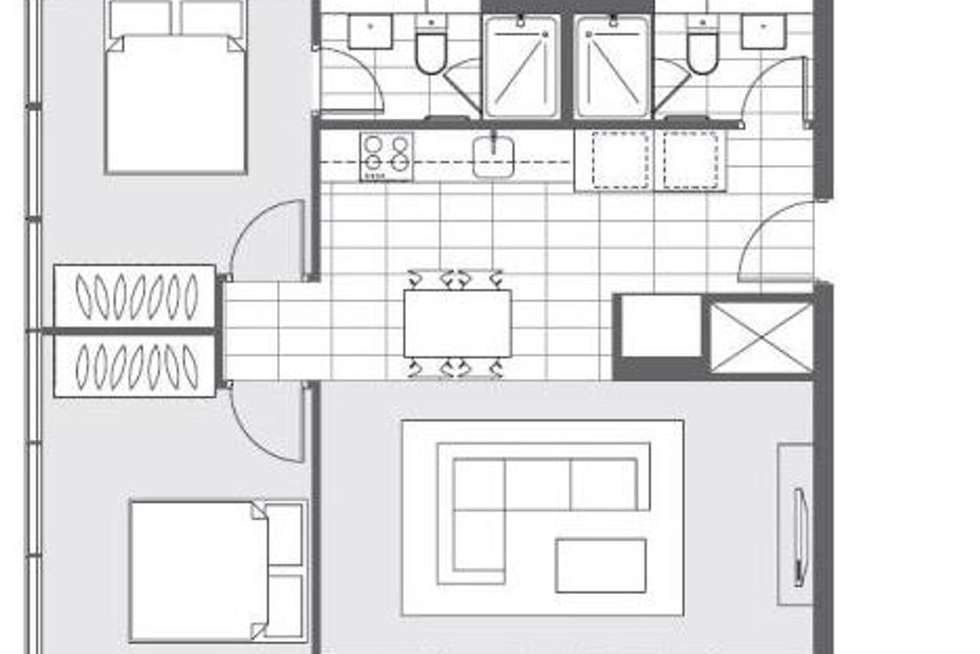 Floorplan of Homely apartment listing, 606/639 Lonsdale Street, Melbourne VIC 3000