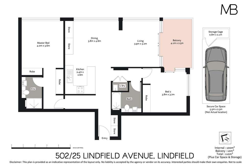 Floorplan of Homely apartment listing, 502/25 Lindfield Avenue, Lindfield NSW 2070