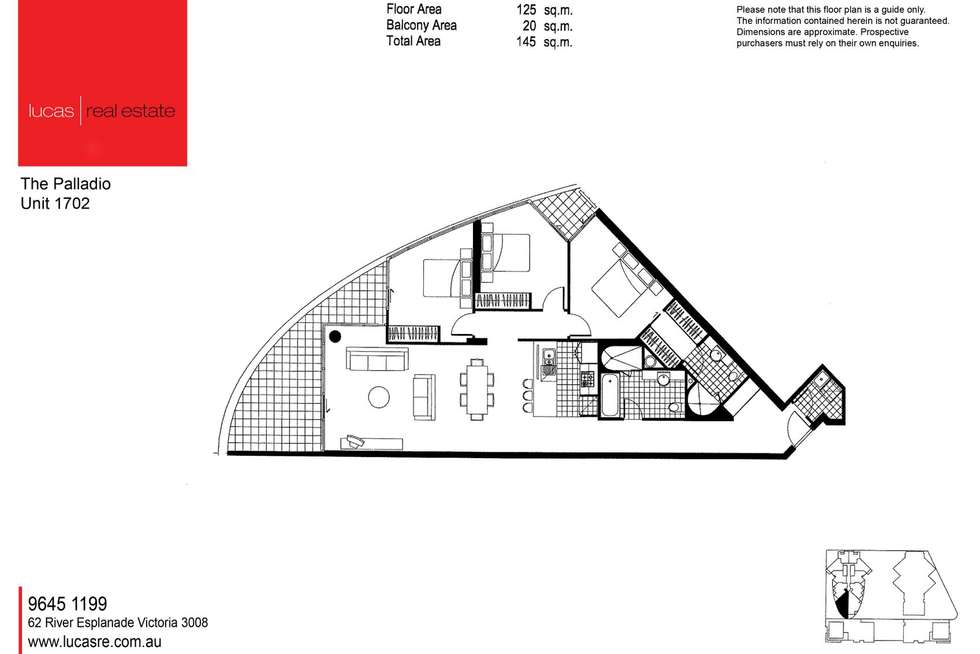 Floorplan of Homely apartment listing, 1702/15 Caravel Lane, Docklands VIC 3008