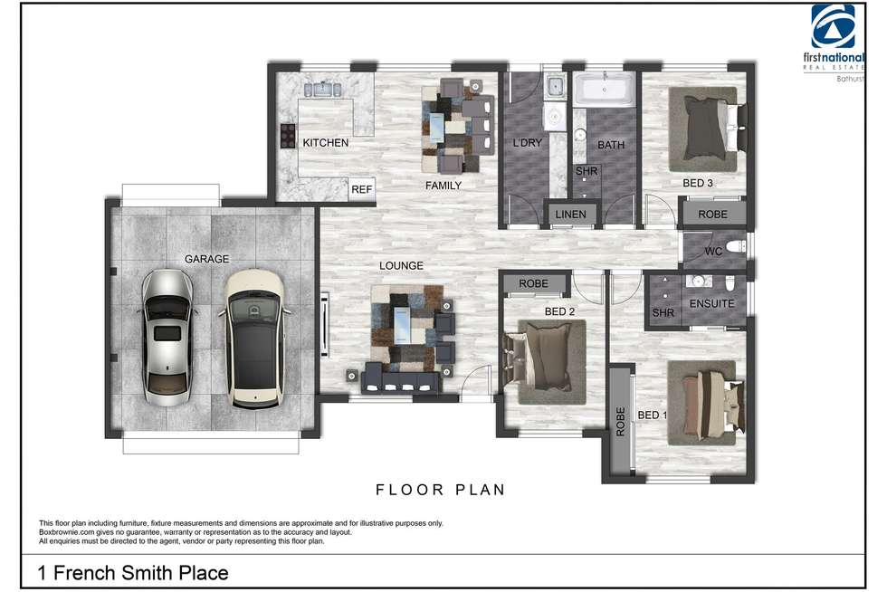Floorplan of Homely house listing, 1 French Smith Place, Bathurst NSW 2795