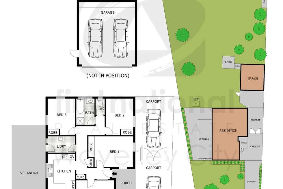 Floorplan of Homely house listing, 4 Redfern Crescent, Mulgrave VIC 3170