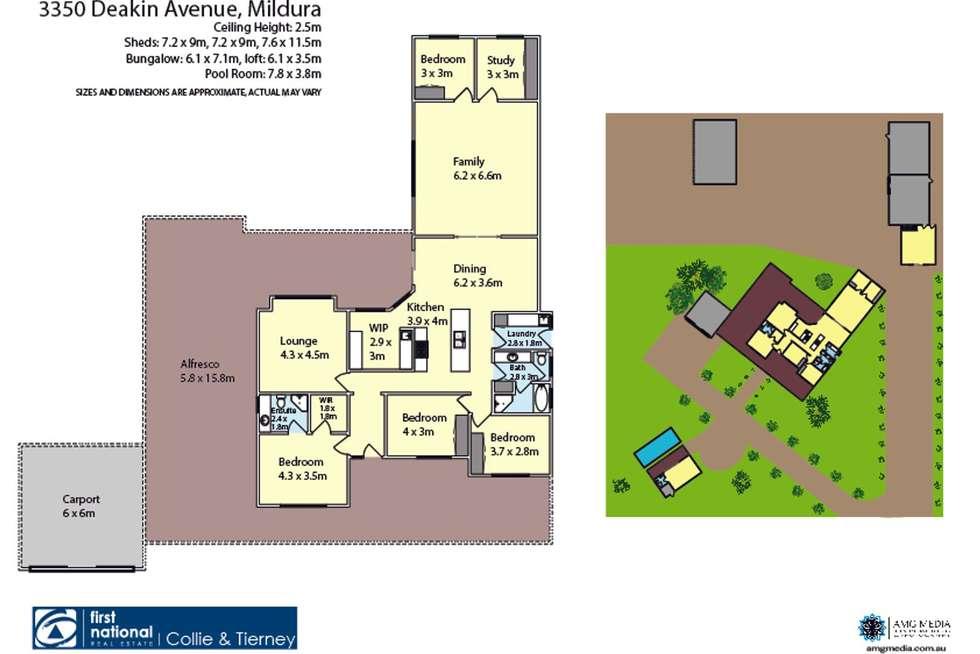 Floorplan of Homely house listing, 3350 Deakin Avenue, Mildura VIC 3500
