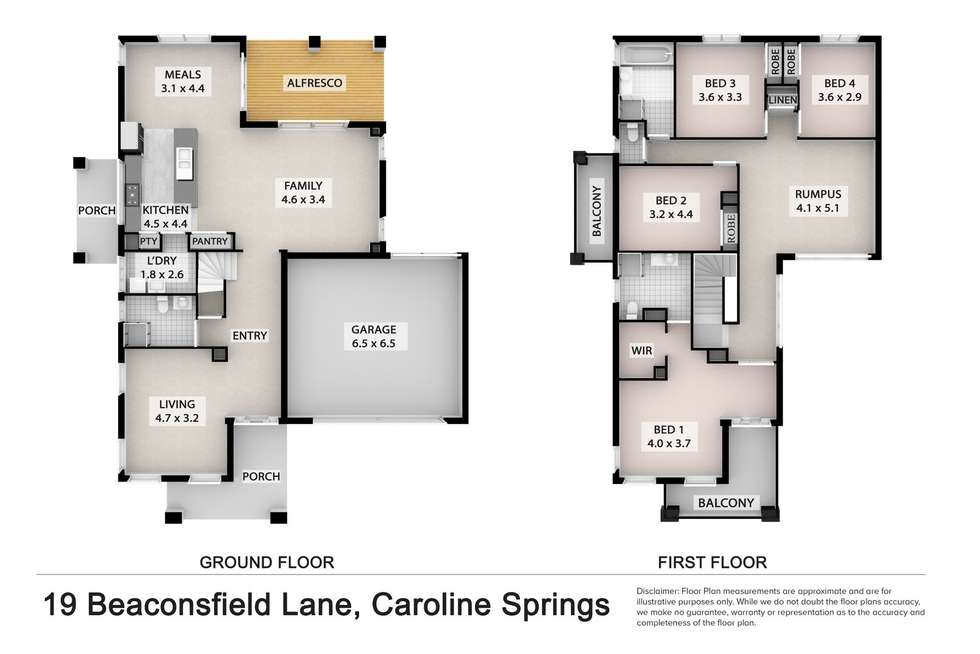 Floorplan of Homely house listing, 19 Beaconsfield Lane, Caroline Springs VIC 3023