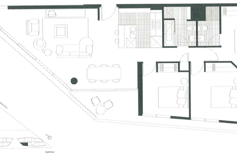 Floorplan of Homely apartment listing, Level10/8 Waterview Walk, Docklands VIC 3008