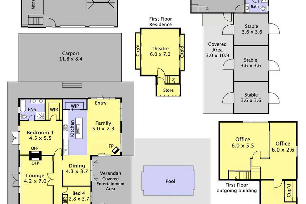 Floorplan of Homely acreageSemiRural listing, 1 Legg Road, Macclesfield VIC 3782