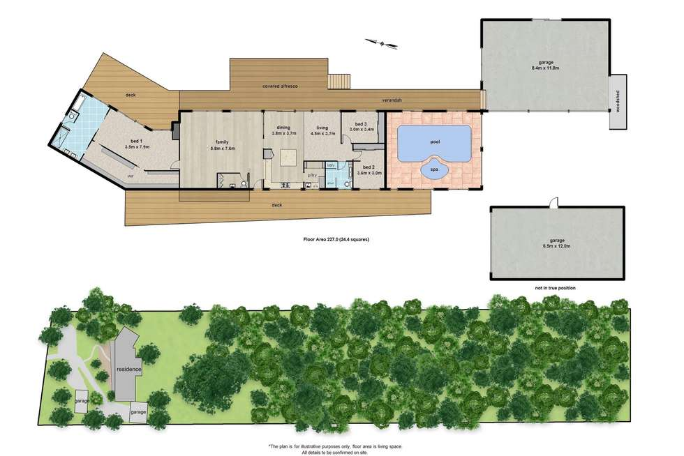 Floorplan of Homely house listing, 28 Patons Road, Macclesfield VIC 3782