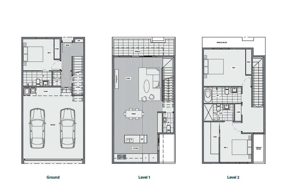Floorplan of Homely townhouse listing, 30 Kavanagh Crescent, Keilor Downs VIC 3038