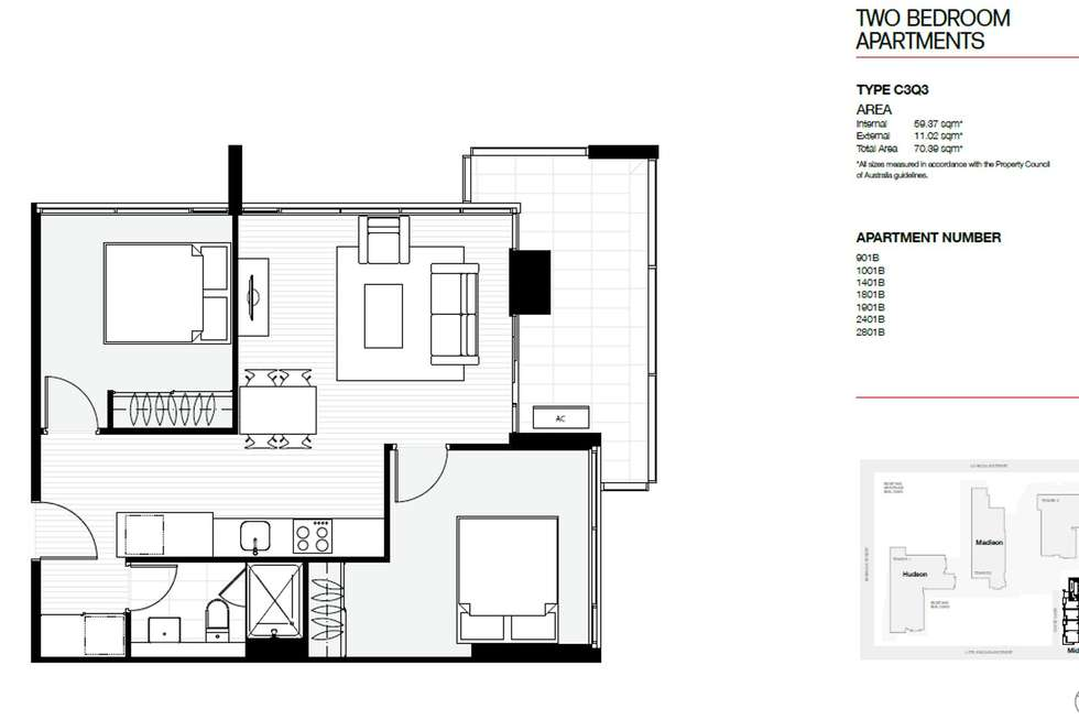Floorplan of Homely apartment listing, 1801B/11 Rose Lane, Melbourne VIC 3000