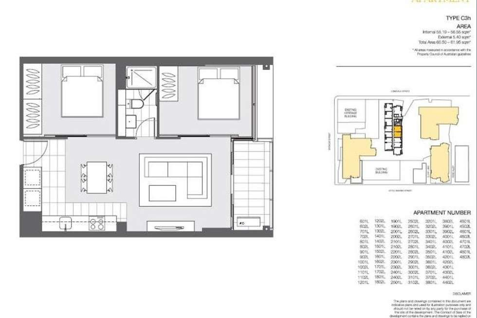 Floorplan of Homely apartment listing, 702/639 Lonsdale Street, Melbourne VIC 3000