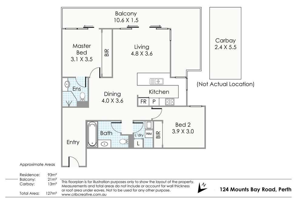 Floorplan of Homely apartment listing, 18/124 Mounts Bay Road, Perth WA 6000