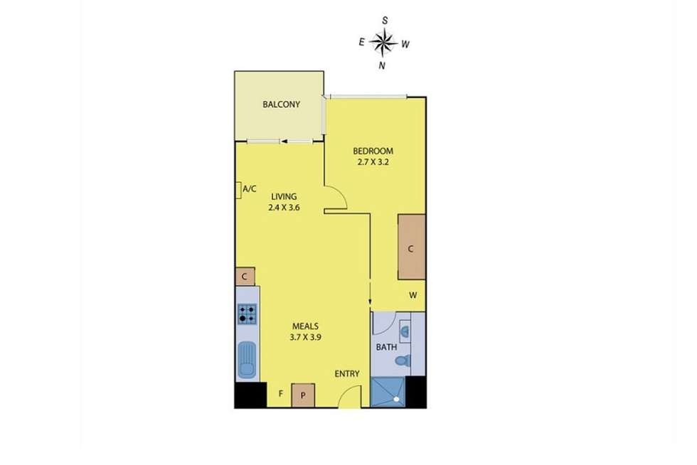 Floorplan of Homely apartment listing, 804/639 Lonsdale Street, Melbourne VIC 3000