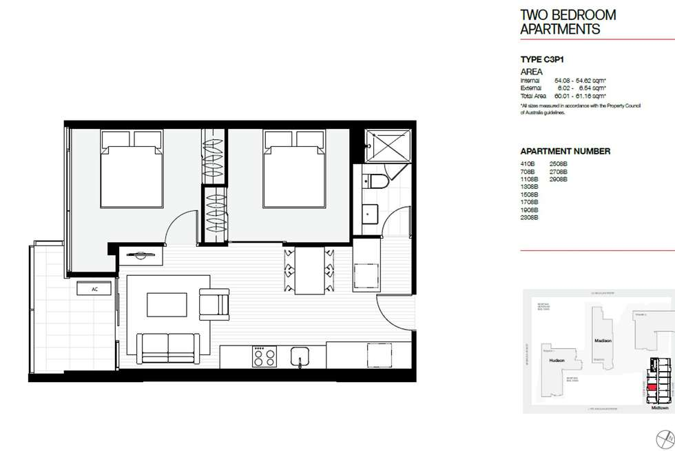 Floorplan of Homely apartment listing, 2508B/11 Rose Lane, Melbourne VIC 3000