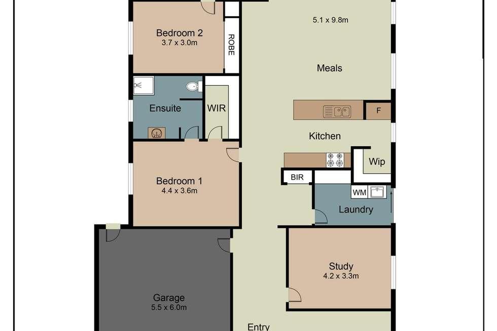 Floorplan of Homely house listing, 36 Goodenia Way, Caroline Springs VIC 3023
