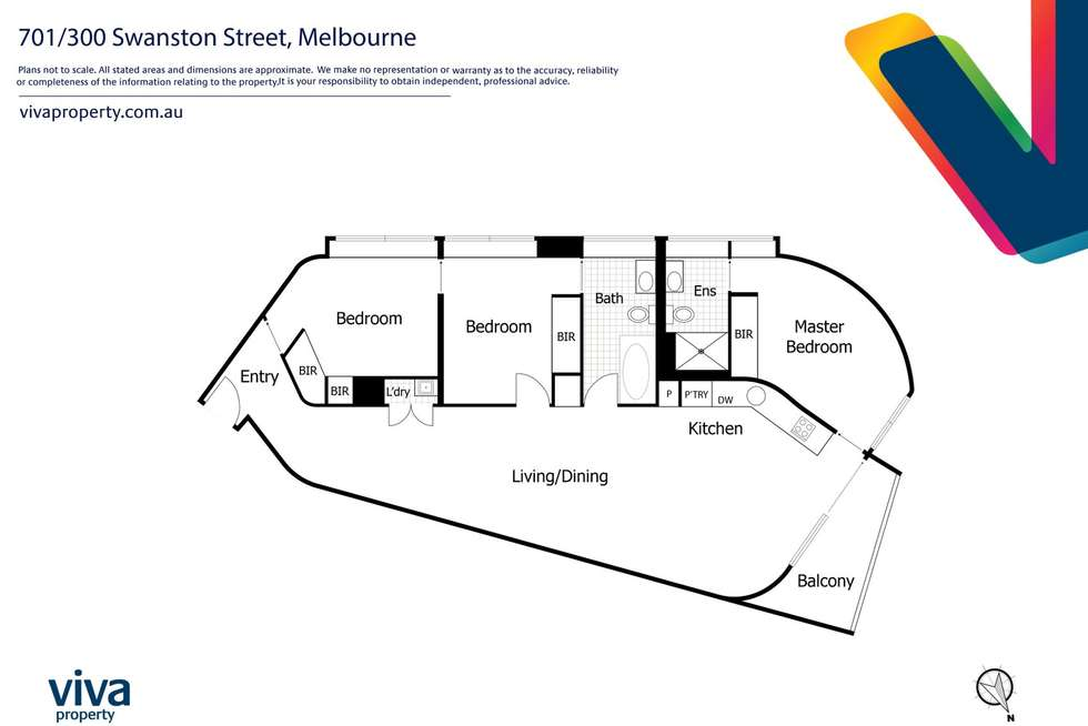 Floorplan of Homely apartment listing, 701/300 Swanston Street, Melbourne VIC 3000