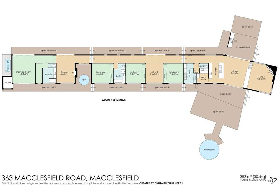 Floorplan of Homely house listing, 363 Macclesfield Road, Macclesfield VIC 3782