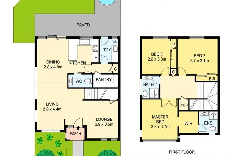 Floorplan of Homely townhouse listing, 8/3 Kathryn Road, Knoxfield VIC 3180