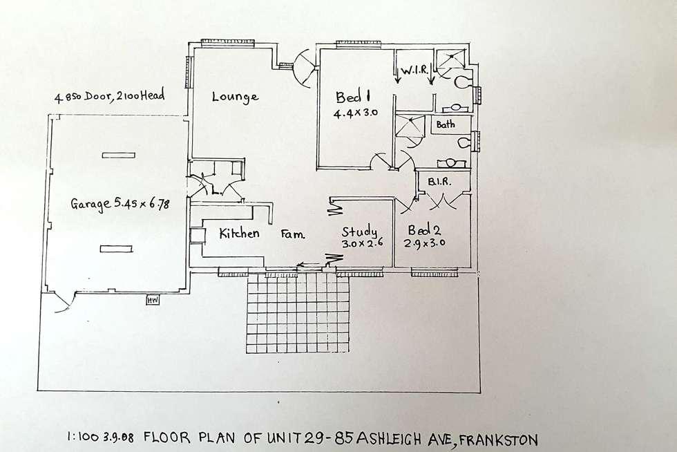 Floorplan of Homely unit listing, 29/85 Ashleigh Avenue, Frankston VIC 3199