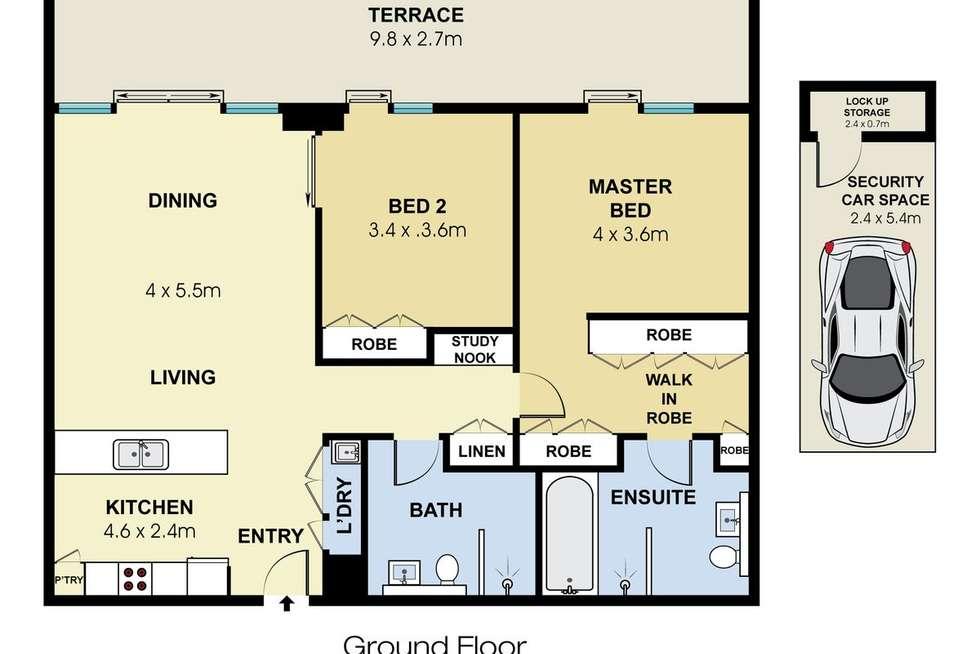 Floorplan of Homely apartment listing, G02W/3 Lardelli Drive, Ryde NSW 2112