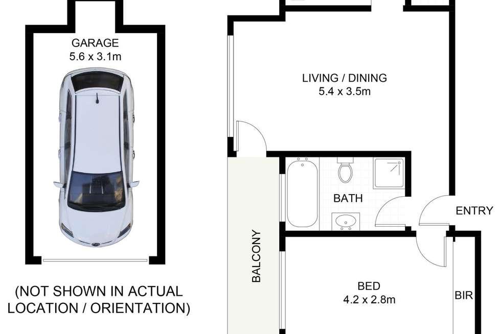 Floorplan of Homely apartment listing, 2/31-33 Girrilang Road, Cronulla NSW 2230
