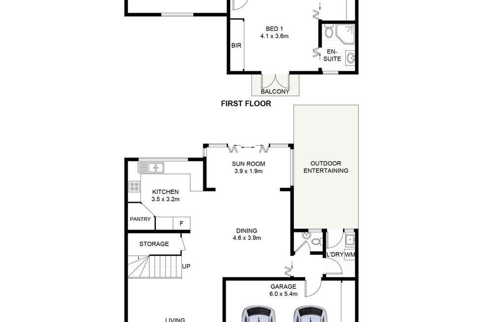 Floorplan of Homely townhouse listing, 2/62 Jacaranda Road, Caringbah South NSW 2229