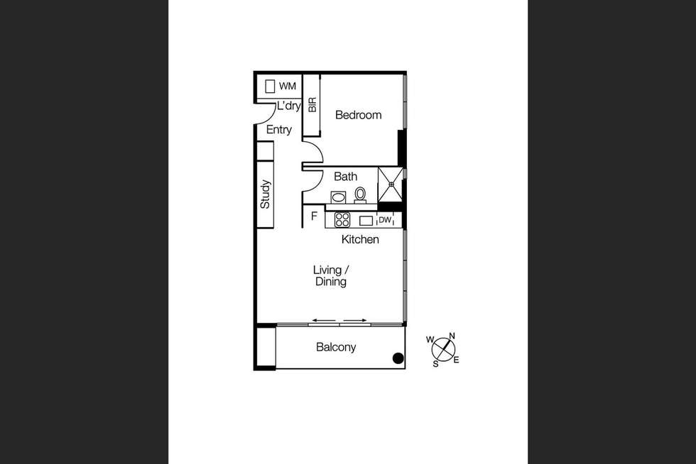 Floorplan of Homely apartment listing, 203/70 Queens Road, Melbourne VIC 3004
