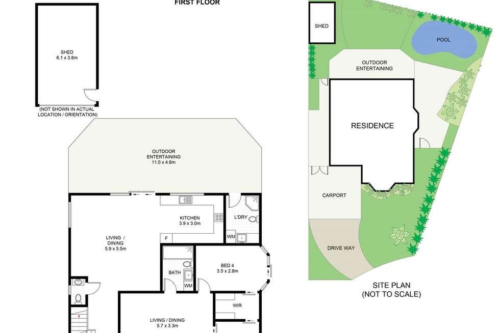 Floorplan of Homely house listing, 3 Nyngan Place, Miranda NSW 2228
