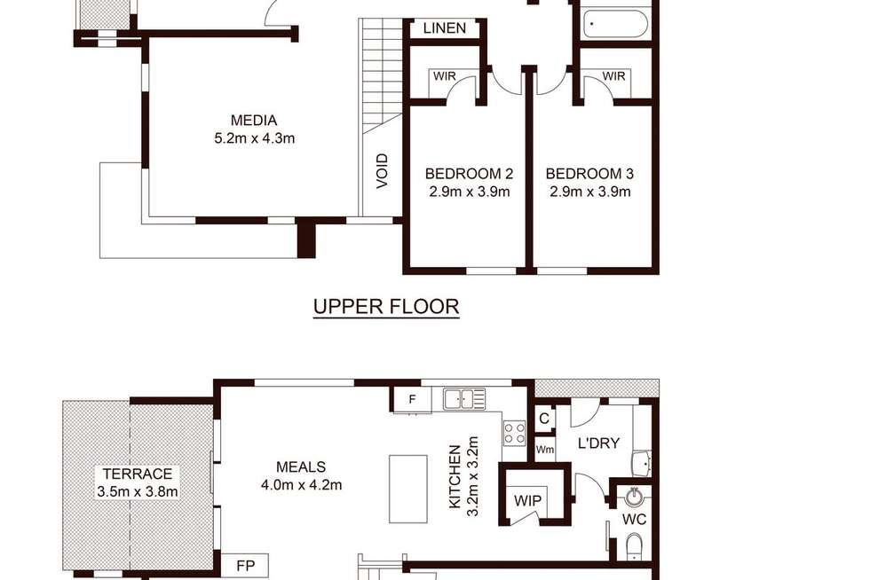 Floorplan of Homely townhouse listing, 1/26 Dolans Road, Woolooware NSW 2230