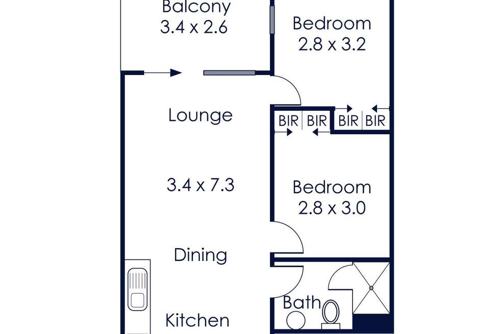 Floorplan of Homely apartment listing, 205/107 Hawke Street, West Melbourne VIC 3003