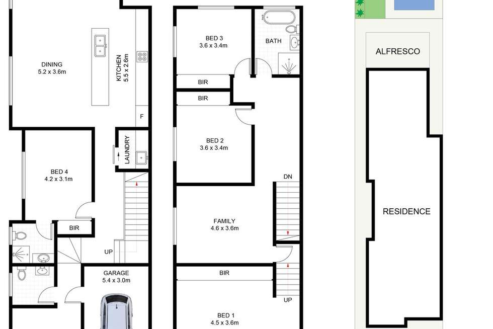 Floorplan of Homely semiDetached listing, 162A President Avenue, Miranda NSW 2228