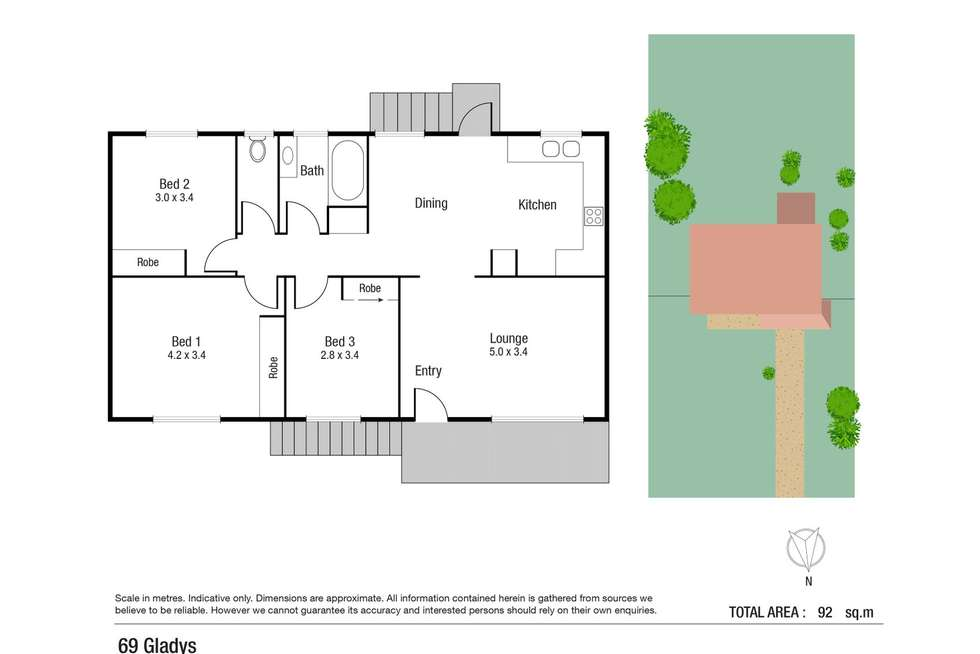 Floorplan of Homely house listing, 69 Gladys Street, Kelso QLD 4815