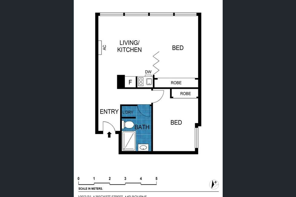 Floorplan of Homely apartment listing, 1007/31 Abeckett Street, Melbourne VIC 3000
