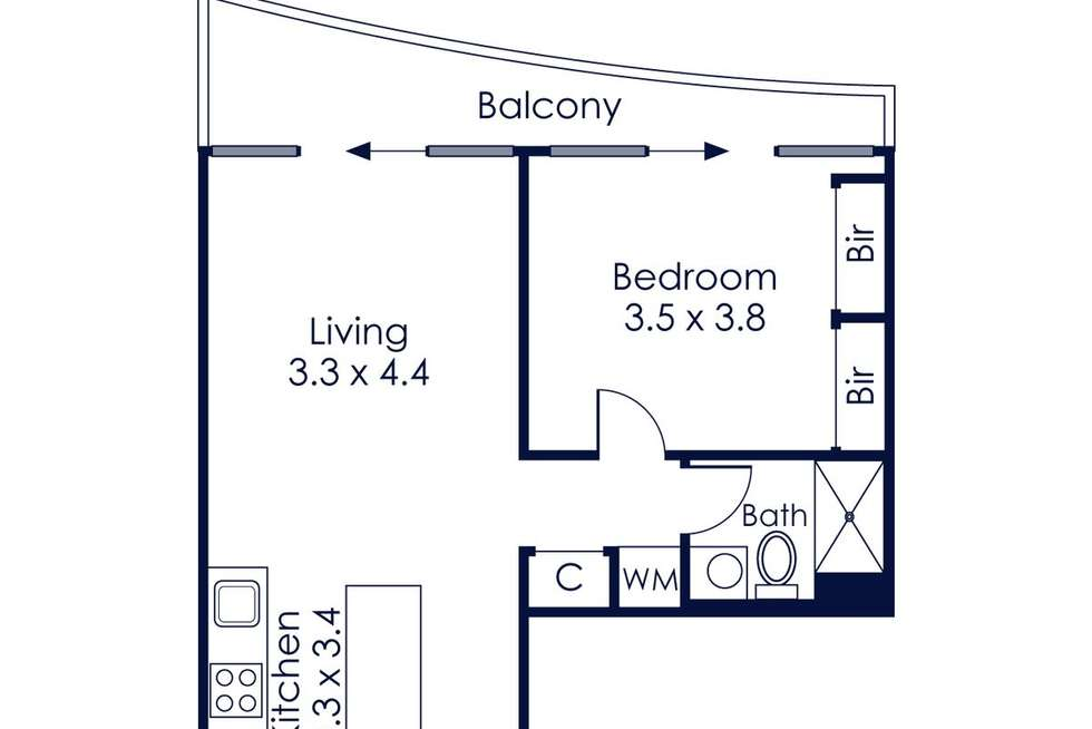Floorplan of Homely apartment listing, 2007/50 Albert Road, South Melbourne VIC 3205